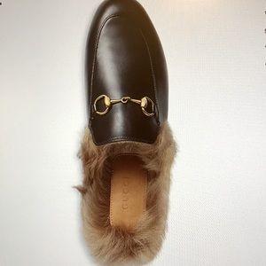 Gucci Women's Princetown Apron Toe  Mules Sz 39/9